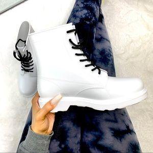 Shoes - Matte White Combat Boot